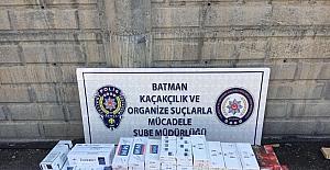 Batman'da 7 bin 270 paket kaçak sigara ele geçirildi
