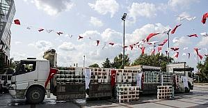 Beykoz'da 80 okula boya ve temizlik malzemesi desteği