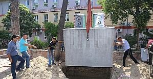Burhaniye'de çöp konteynerleri yer altına indi