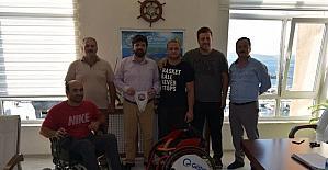Çanakkale Boğazgücü'nün yıldızı Davut Çalışkan'a yeni tekerlekli sandalye