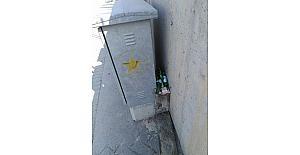 Çöplük gibi kullanılan duvarlar