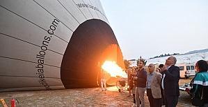 Denizli Valisi Karahan Pamukkale'yi havadan inceledi