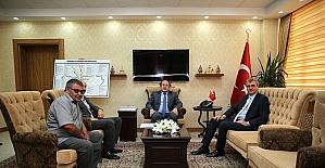 DOKAP Başkanı Ekrem Yüce, Vali Ali Hamza Pehlivan'ı ziyaret etti