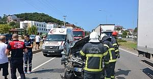 Fatsa'da trafik kazaları: 13 Yaralı