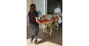 Fındık sererken çatıdan düşen genç hastanelik oldu