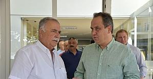 Giresun Belediye Başkası Aksu'dan kardeş şehir Çanakkale'nin Belediye Başkanı Gökhan'a ziyaret