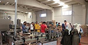Girişimcilik kursuna katılanlar, fabrikaların çalışmasını yerinde inceledi