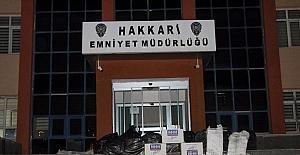 Hakkari'de 23 bin paket kaçak sigara ele geçirildi