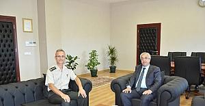 İl Jandarma Komutanı Albay Oğuz, Rektör Şengörür ile görüştü