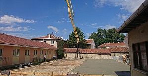 İnönü belediyesi spor ve sosyal yaşam merkezi inşaati yükseliyor