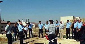 İtfaiye Müdürlüğü Cezaevi personeline yangın eğitimi verdi