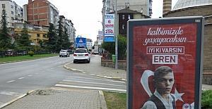 """İyi ki varsın Eren"" Trabzon'da her yerde"