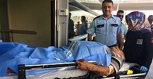 Kadının bıçakladığı adam hastaneye kaldırıldı