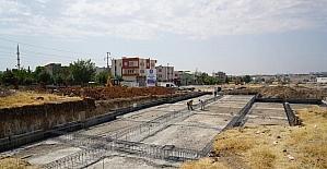 Karapınar Mahallesi taziye evi inşaatı hızla ilerliyor