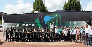 Kocaelispor yeni takım otobüsünü teslim aldı