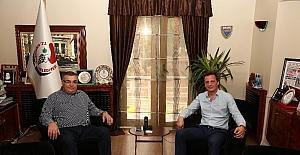 Konsolos Andonov, Kesimoğlu ile Kent Kültür Evini görüştü