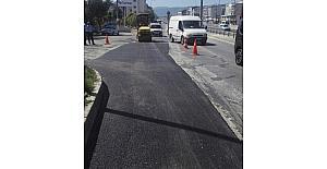 Körfez'de asfalt çalışmaları sürüyor
