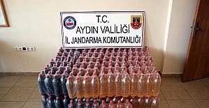 Kuşadası'nda 600 litre kaçak şarap ele geçirildi