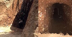 Lağım pisliği PKK'lıların tünelleri imha edildi