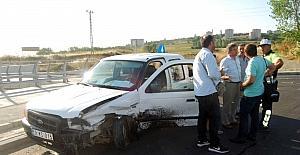 Mahalle muhtar kazayı ucuz atlattı