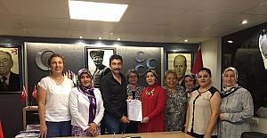 MHP Uşak İl Kadın Kollarında nöbet değişimi