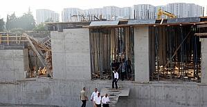 Okul inşaatındaki göçük