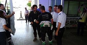 Ralli'de araçları yanan iki yarışmacı ölümden döndü