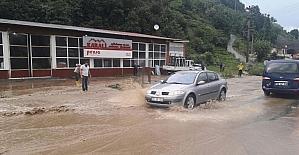 Rize'de şiddetli yağış