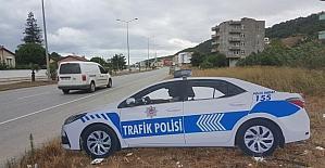 Samsun'da maket trafik polis araçları yollarda