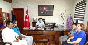 Şırnak gazisi Alçiçek, Kaymakam Sürücü'yü ziyaret etti