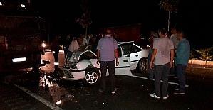Tırla otomobil çarpıştı: 1 ölü, 1 yaralı