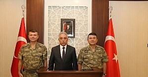 Tuğgeneral Baykal'dan Vali Toprak'a ziyaret