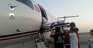Uçak ambulans 14 yaşındaki Gülbahar için havalandı