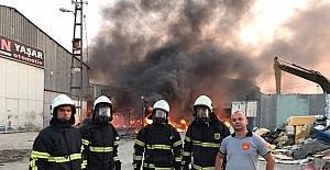 Yüksek gerilim hattı yangına neden oldu