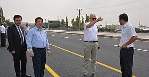 Aksaray'da Özel İdare -TOKİ-Akin yolu çift taraflı ulaşıma açıldı