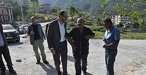 Başkan Ayaz, belediye ekiplerinin çalışmalarını inceledi
