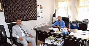 Başkan Yağcı, Nüfus Müdürü Önce ile bir araya geldi