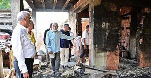 Başkan Yılmaz'dan yangınzede aileye yardım sözü