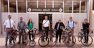 Bergama'da Avrupa Hareketlilik Haftası' bisiklet turu