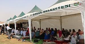 Bingöl'de kardeşlik sofrası kuruldu