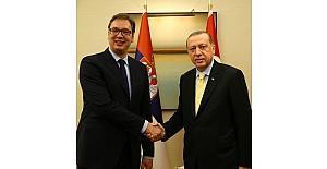 Cumhurbaşkanı Erdoğan, Sırbistan Cumhurbaşkanı Vucic ile görüştü
