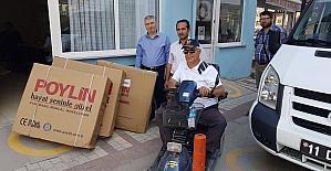 Duyarlı vatandaşlar 3 engelliye ışık oldu