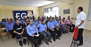 EGO'da iş güvenliği, ilk yardım ve yangın tatbikatı