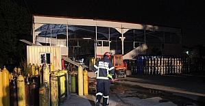 Gaz dolum tesisinde patlama