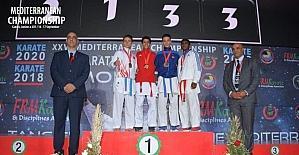 Kağıtsporlu karateciler Akdeniz Şampiyonası'ndan 4 madalya ile döndü