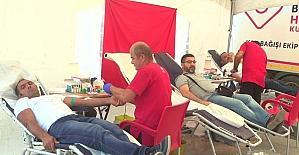Kan bağışına ilgi yoğun oldu