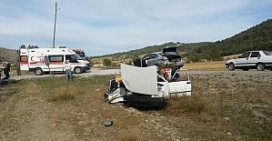 Kastamonu'da iki otomobil çarpıştı: 1 ölü, 5 yaralı