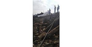 Kayabey Köyü'nde çıkan yangında ev kül oldu