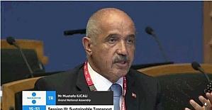 Milletvekili Ilıcalı, Estonya Parlamentosu'nda Türkiye'nin ulaştırma alanındaki başarısını anlattı