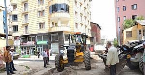Muş'ta asfalt çalışması
